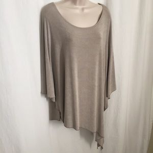 Chico's Travelers Sz 2 Asymmetrical Poncho Blouse